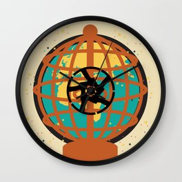 World imprisoned in the chaos of himself Wall Clock