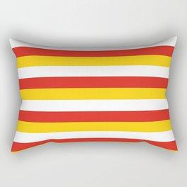 Bhutan dorset flag stripes Rectangular Pillow