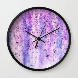 abstract purple wisteria watercolor Wall Clock