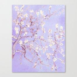 Vincent Van Gogh Almond Blossoms  Lavender Canvas Print