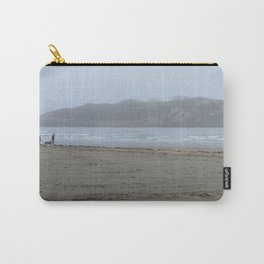 Walking on a foggy beach Carry-All Pouch