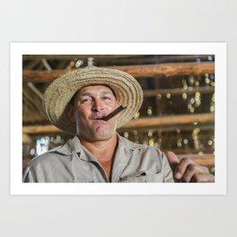 Manny the Cigar Farmer Art Print