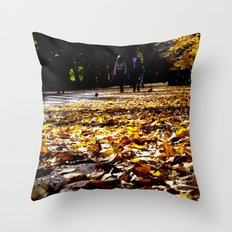 Central Park Leaves Throw Pillow