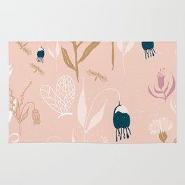 Magic Garden - Pink and Gold Rug