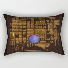 GOLD RUINS WITH GEM Rectangular Pillow
