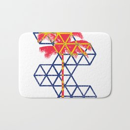 Geometric coconut tre Bath Mat