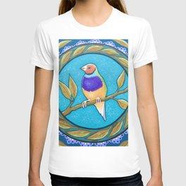 Endangered Gouldian Finch Mandala T-shirt