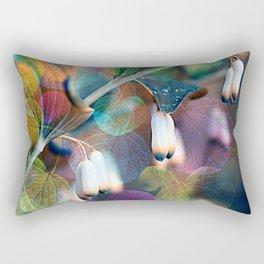 Floral abstract(48). Rectangular Pillow