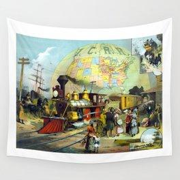 Transcontinental Railroad Wall Tapestry