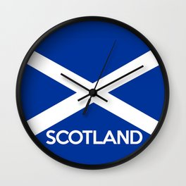 scotland country flag name text Wall Clock