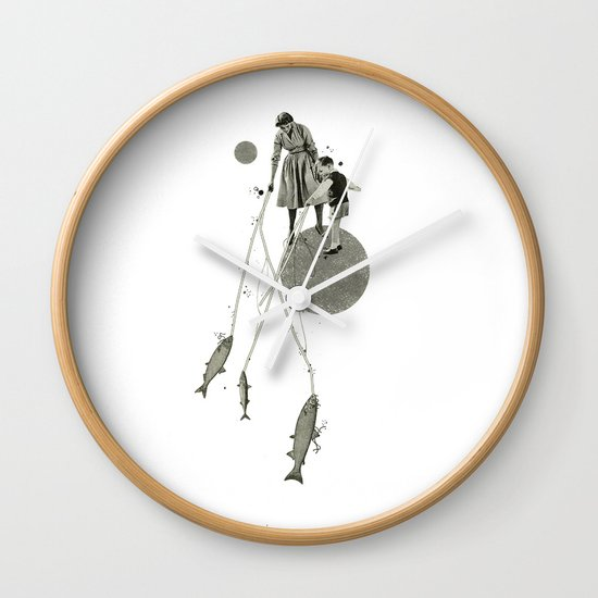 April   Collage Wall Clock