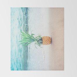 Happy Pineapple Throw Blanket