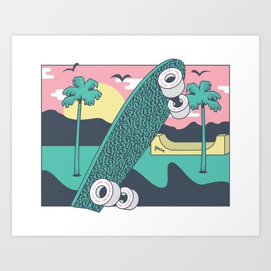 Skate or DIY Art Print
