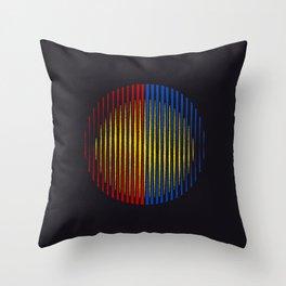 Sprayed circled Lines Throw Pillow