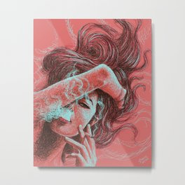 Scribble & Smoke Metal Print