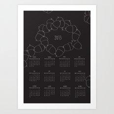 2013 calendar Art Print