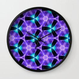Chainlink Pattern (purple) Wall Clock
