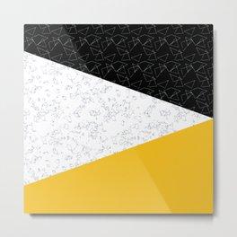 Black yellow white flap Metal Print