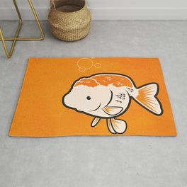 Ranchu Goldfish Rug
