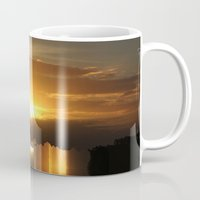 jazzberry Mugs featuring Catch a little sunrise and save it for a rainy day by Donuts