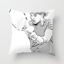Rafa's Brilliant Backhand Throw Pillow