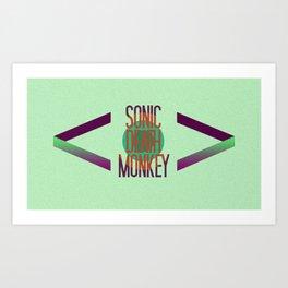 Sonic Death Monkey Art Print