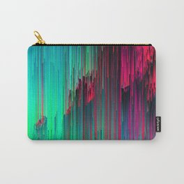 Just Chillin' - Abstract Neon Glitch Pixel Art Carry-All Pouch