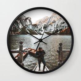 man at braies Wall Clock