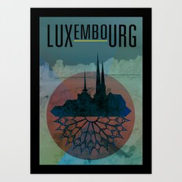 Luxembourg: Version 2 Art Print