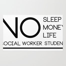 Social Worker Student Gifts For Graduation Social Worker Rug