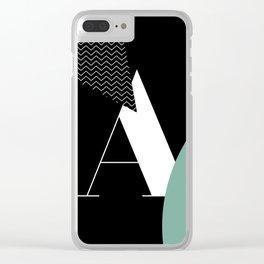 Serif - A - black Clear iPhone Case