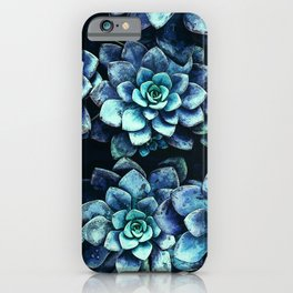 Blue And Green Succulent Plants iPhone Case