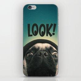 LOOK it's Lola the pug iPhone Skin