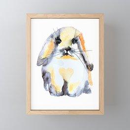 Cute Bunny Nose Framed Mini Art Print