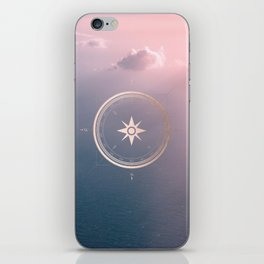 The Edge of Tomorrow - Rosegold Compass iPhone Skin