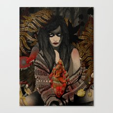 The Keepers - Red Pulse Canvas Print