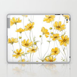 Yellow Cosmos Flowers Laptop & iPad Skin