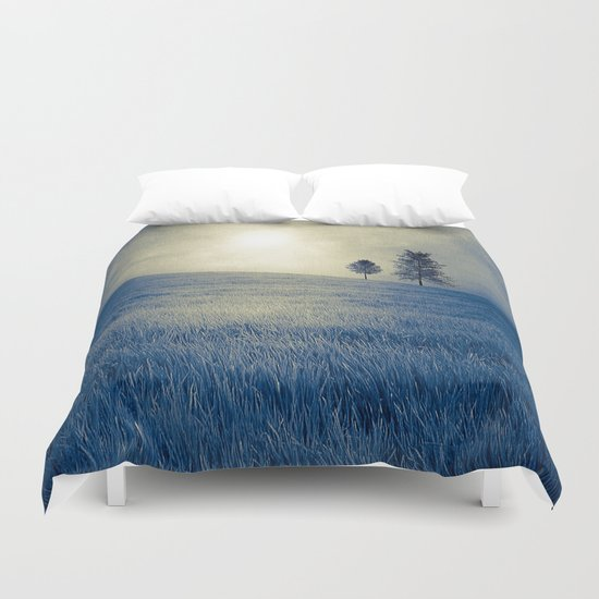 Blue field Duvet Cover