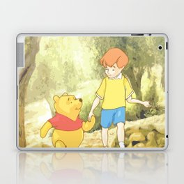 Christopher and Pooh Bear Laptop & iPad Skin