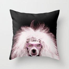 Poodle Dog Digital Art Throw Pillow