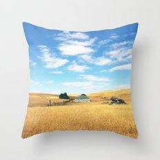 Barn. Throw Pillow