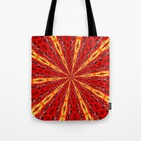 novelty Tote Bags featuring FALL KALEIDOSCOPE  by Teresa Chipperfield Studios