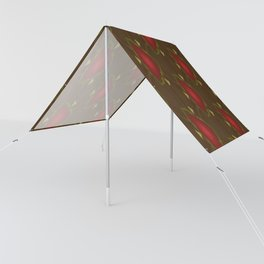 Red Triangle Flower pattern Sun Shade