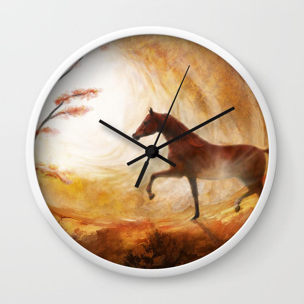 Heaven Sent Wall Clock By Horsesrart Society6