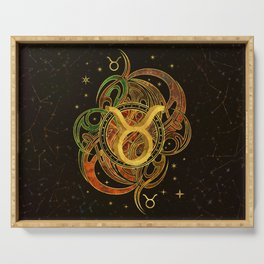 Taurus Zodiac Sign Earth element Serving Tray