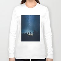stars Long Sleeve T-shirts featuring Follow the stars by HappyMelvin
