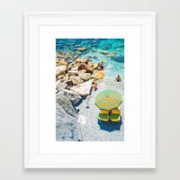 umbrella Framed Art Prints featuring Umbrella by Halina  Jasińska photography