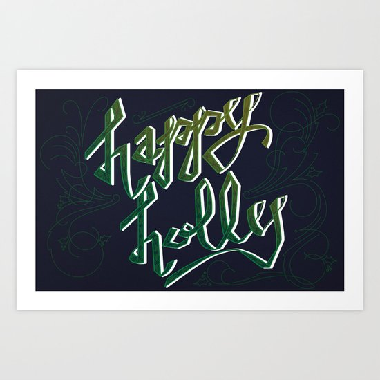 Happy Holly Art Print