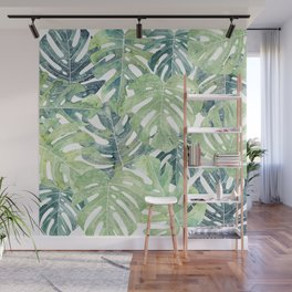 Tropical Leaves Monstera leaves Jungle leaves Wall Mural