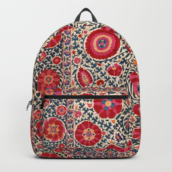 Kermina Suzani Uzbekistan Embroidery Print Backpack